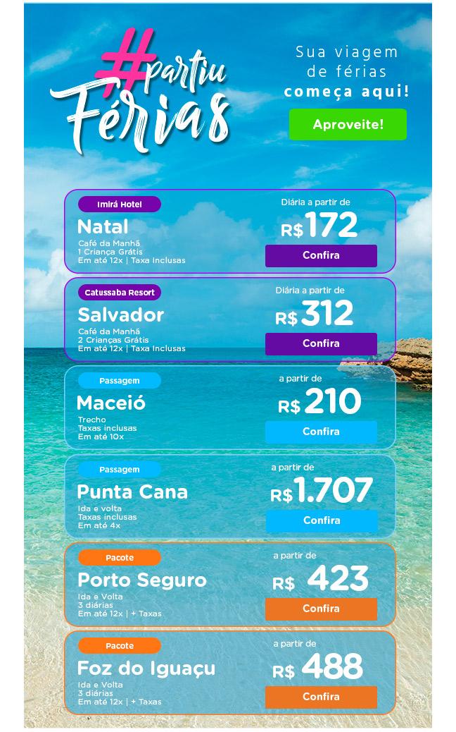 Sua viagem de férias começa aquI!